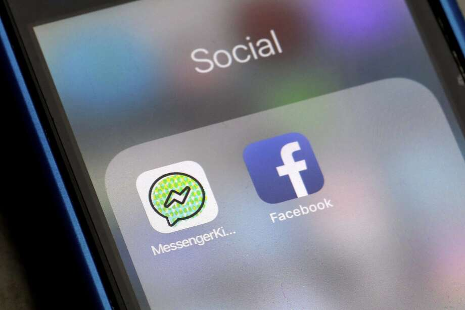 Facebook's Messenger Kids lets those under 13 chat with friends and family. It displays no ads. Photo: Richard Drew, Associated Press