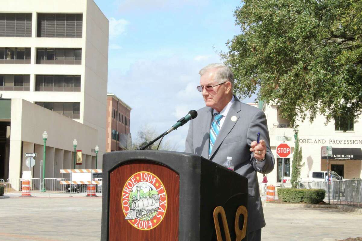 The original pavers with names were kept and reinstalled with the new pavers around the 37-foot wide by 37-foot tall state of Texas design, according to Mayor Toby Powell.