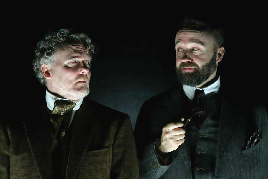 "Daniel Pearce, left, and Alex Moggridge in Ken Ludwig's ""Baskerville."" Photo: Long Wharf Theatre / Contributed Photo"