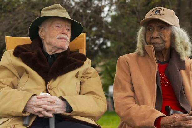 """A scene from the Academy Award-nominated short documentary, """"Edith & Eddie,"""" about two seniors who marry late in life."""