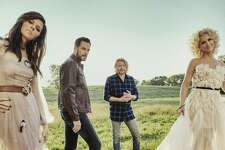 Little Big Town, featuring Karen Fairchild, left, Jimi Westbrook, Phillip Sweet and Kimberly Schlapman, performs at Mohegan Sun Arena on Feb. 23.