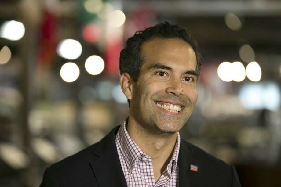 In a mailer, Texas Land Commissioner George P. Bush (shown here touring a museum in April 2017) called himself a retired Navy officer. PolitiFact Texas found this claim False (PHOTO: RALPH BARRERA/AUSTIN AMERICAN-STATESMAN).