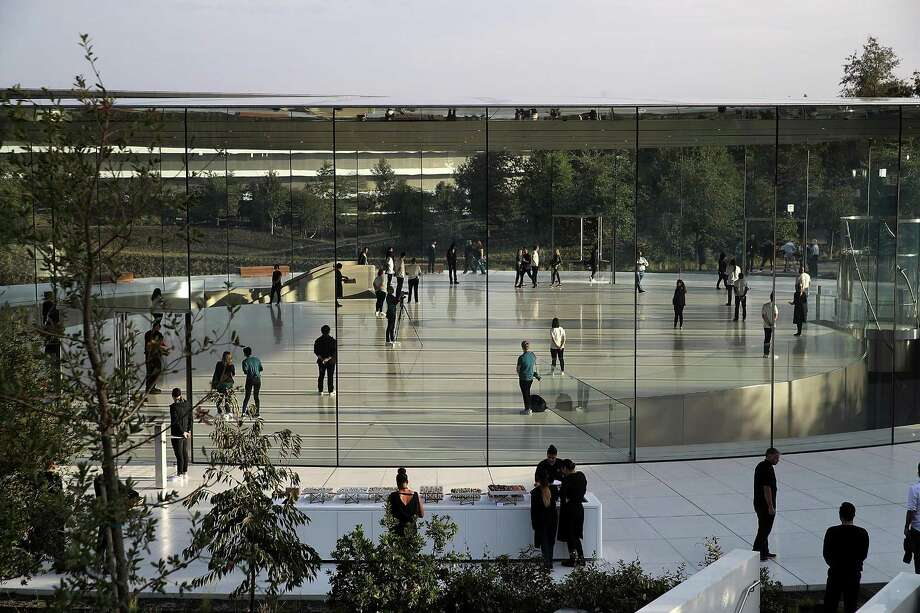 The Steve Jobs Theater has the kind of openness in design that the new Apple Park campus is known for. Photo: Justin Sullivan / Getty Images / 2017 Getty Images