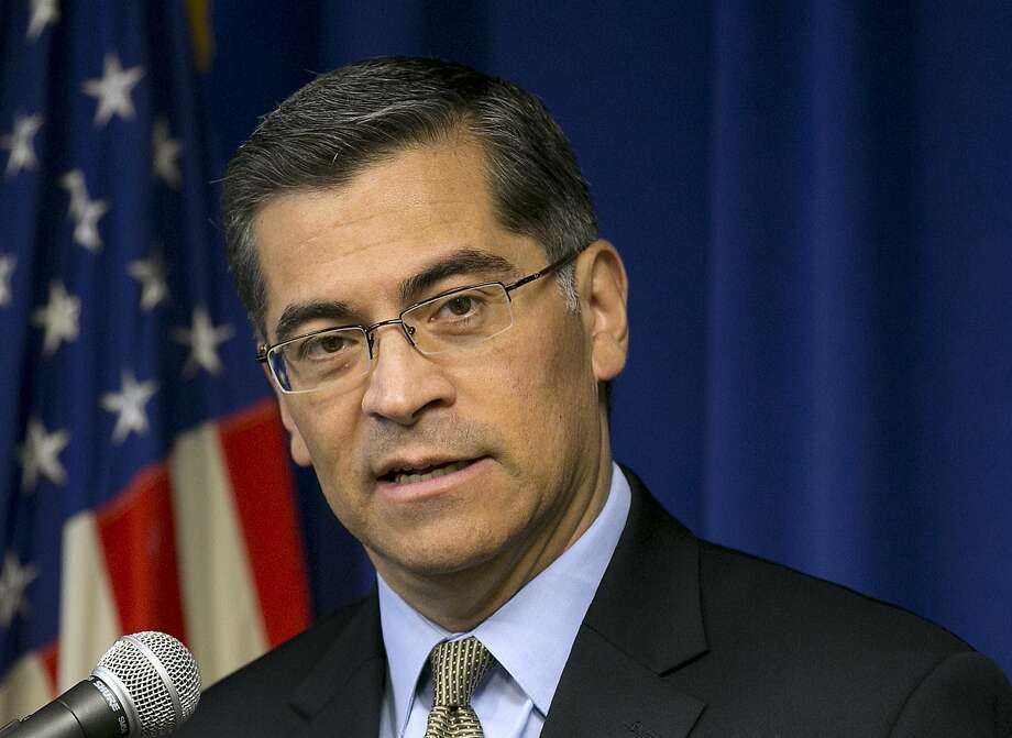 FILE - In this Jan. 24, 2018, file photo California Attorney General Xavier Becerra talks during a news conference in Sacramento, Calif. The U.S. Department of Justice is appealing a California judge's decision to temporarily block new Trump administration rules allowing more employers to opt out of providing women with no-cost birth control. Becerra sued the Trump administration in October challenging the new rules and on Friday, Feb. 16, 2018, he said that the changes unjustly target women. (AP Photo/Rich Pedroncelli, File) Photo: Rich Pedroncelli, Associated Press