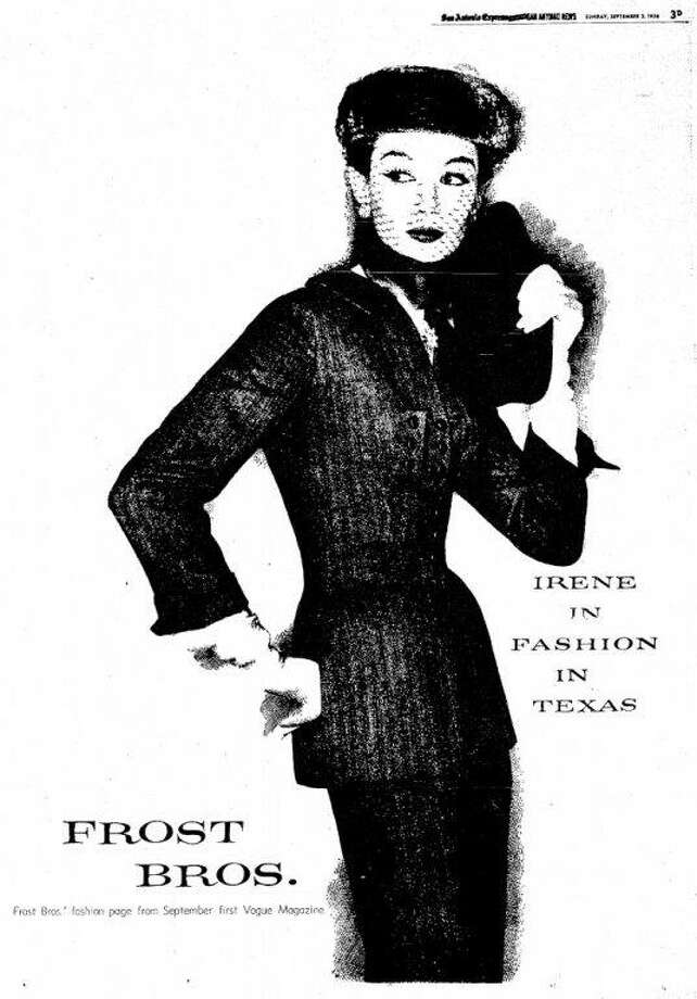Frost Bros. ads were works of art that encouraged women to display their sense of style. Photo: /