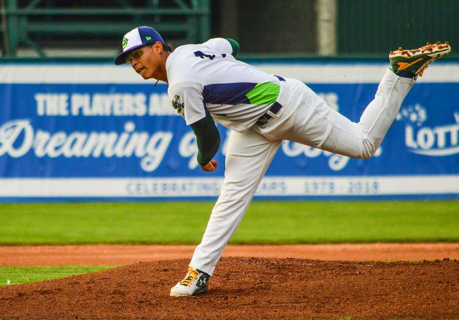 A's prospect Jesus Luzardo, who attended Marjory Stoneman Douglas High School, has started a memorial fund for the family of the school's athletic director. Photo: Courtesy Vermont Lake Monsters