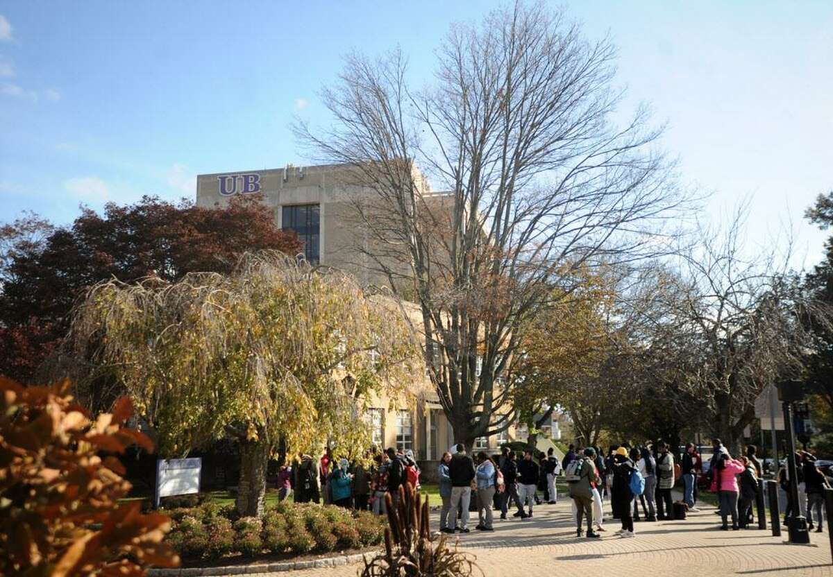 ADT named the University of Bridgeport the safest campus in Connecticut. Students on the University of Bridgeport campus in Bridgeport, Conn. on Wednesday, November 15, 2017.