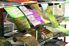 Connecticut lottery tickets on sale at the Food Bag Citgo gas station in Shelton.