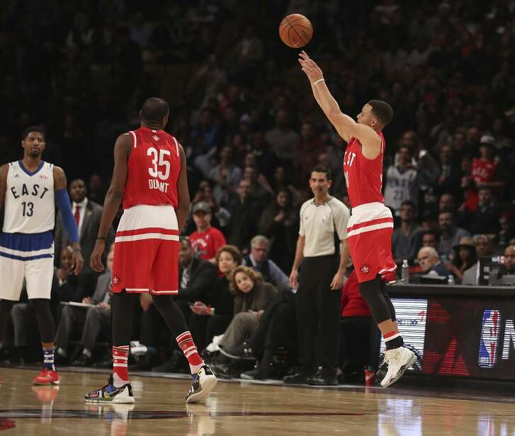 In a sign of the times, Stephen Curry attempted 13 three-pointers in the 2016 All-Star Game.