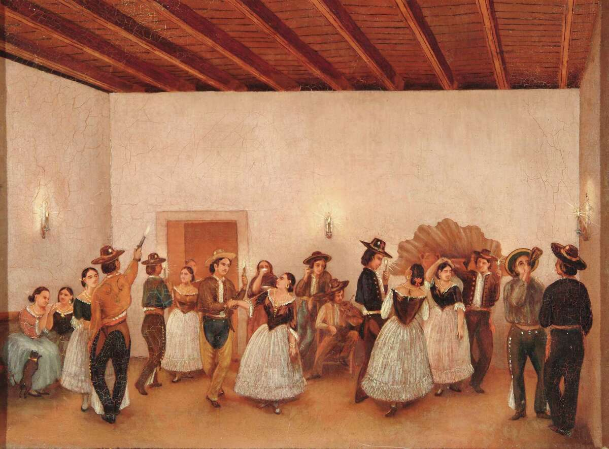 """""""Fandango,"""" one of Gentilz's most famous, depicts a dance at the Spanish Governor's Palace in the 1850s that he and his brother-in-law attended."""
