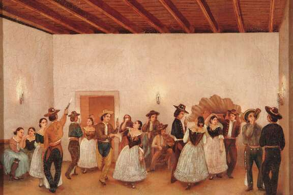 """Fandango,"" one of Gentilz's most famous, depicts a dance at the Spanish Governor's Palace in the 1850s that he and his brother-in-law attended."