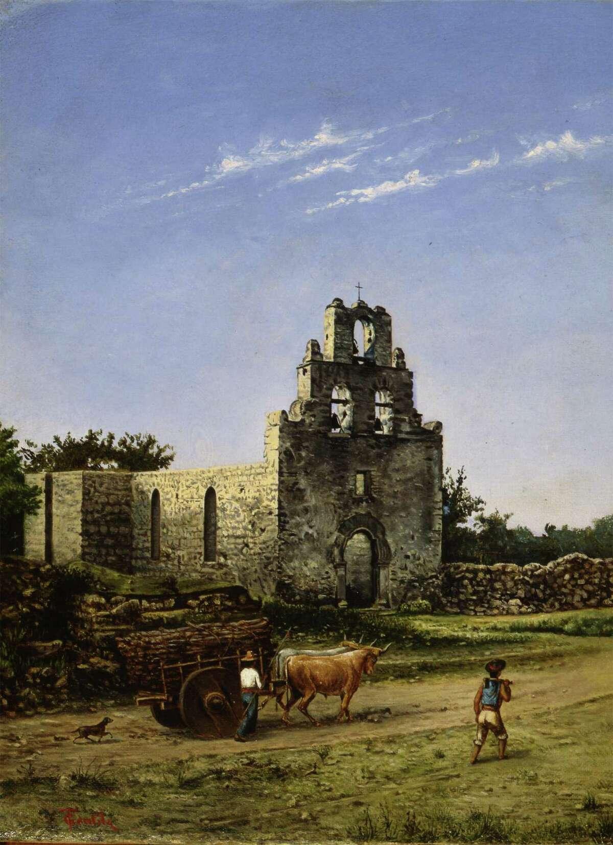 Mission San Francisco de la Espada is one of at least two renderings of Mission Espada that Gentilz painted.