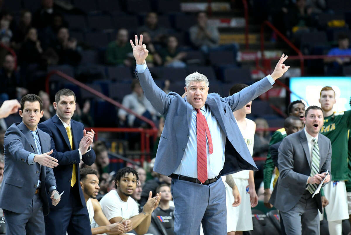 Back in January, Patsos made national headlines by putting on an amusing handshake display with the air after a game against Rider came close to ending in a brawl. The other team walked off court, skipping the handshake. View video.
