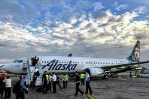 #2  Combined with Virgin America, Alaska Airlines flew 12,357  seats per day SFO in 2017- I've combined both airlines' numbers for this ranking. Last year, the two operated separately with Virgin flying 9,041 seats (ranking #2), and Alaska flying 3,316 (ranking #6 between Delta and JetBlue). Starting in January, Virgin America and Alaska began operations under a single certificate, although they will continue to use different names for the next few years.
