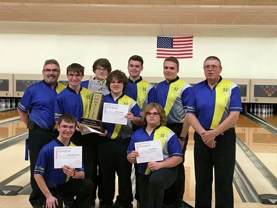 The Midland High boys' bowling team was awarded the Saginaw Valley League championship trophy before Thursday's SVL boys' singles tournament at Alert Lanes in Essexville.
