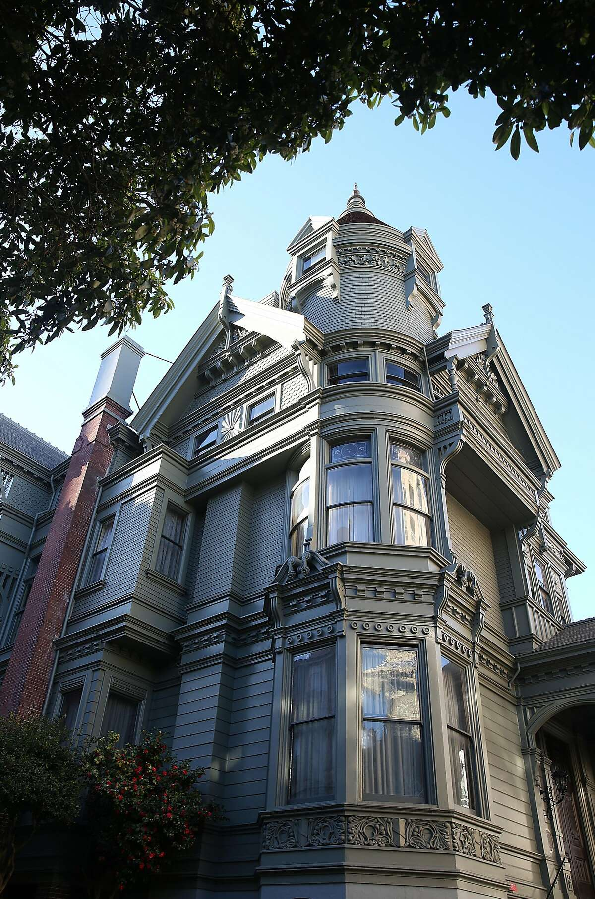 Haas-Lilenthal House, which has been restored, has 24 rooms and a 67-foot-tall tower.