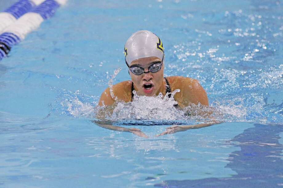 Alexander's Aneesa Mohammed concluded her high school career Friday at the UIL Class 6A Swimming & Diving State Meet. Photo: Clara Sandoval /Laredo Morning Times