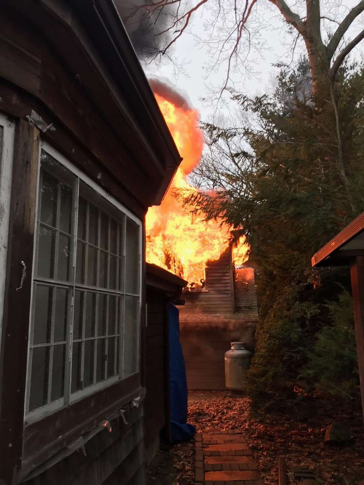 The Westport Fire Department responded to a building fire in Westporton Remlin Court Friday, February 16.