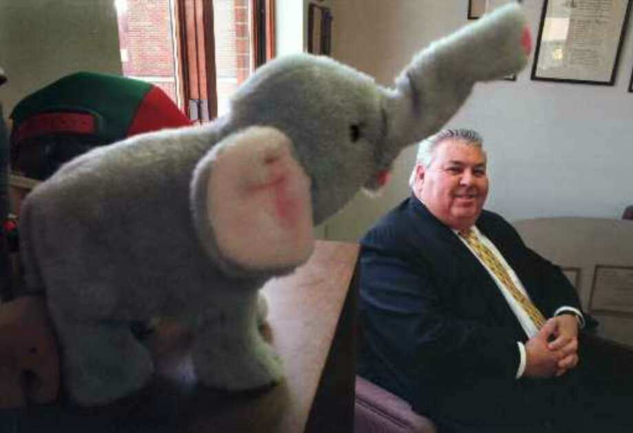 Harry J.  D'Agostino, Chairman of Colonie GOP, at his law office in Downtown Albany. (File photo)