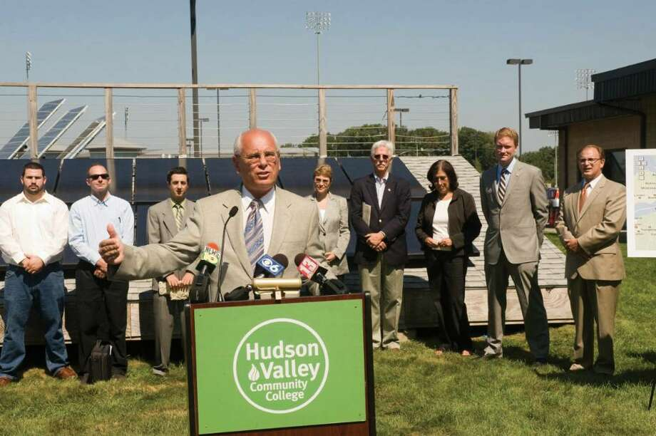 U.S. Rep. Paul Tonko speaks at Hudson Valley Community College in Troy on Saturday, Sept. 19. (Anthony Salamone/Hudson Valley Community College ) Photo: Anthony Salamone/Hudson Valley C / 00005573A