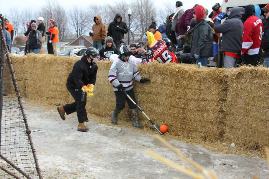 This year's Shanty Days in Caseville hit the ground running with several events on Saturday, including the famous Polar Bear Dip and a Broom Ball tournament. Shanty Days will run throughout today before ending on Sunday. Photo: Bradley Massman/Huron Daily Tribune