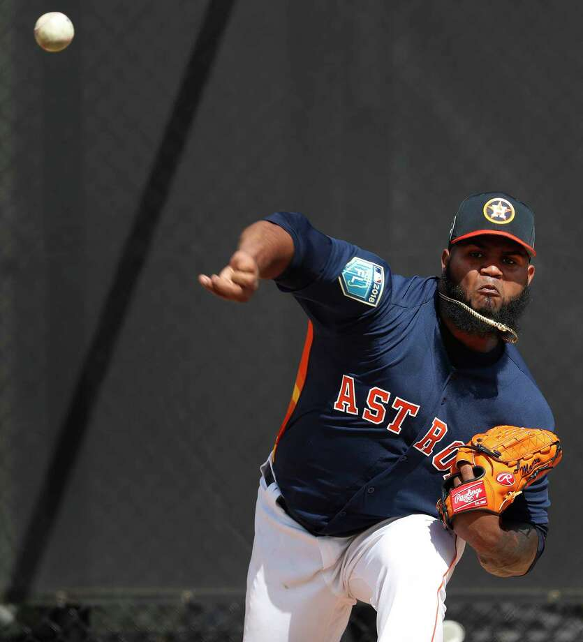 Houston Astros RHP pitcher Francis Martes (58) throws a bullpen session as the pitchers and catchers worked out for the first time during spring training at The Ballpark of the Palm Beaches, Wednesday, Feb. 14, 2018, in West Palm Beach . Photo: Karen Warren, Houston Chronicle / © 2018 Houston Chronicle