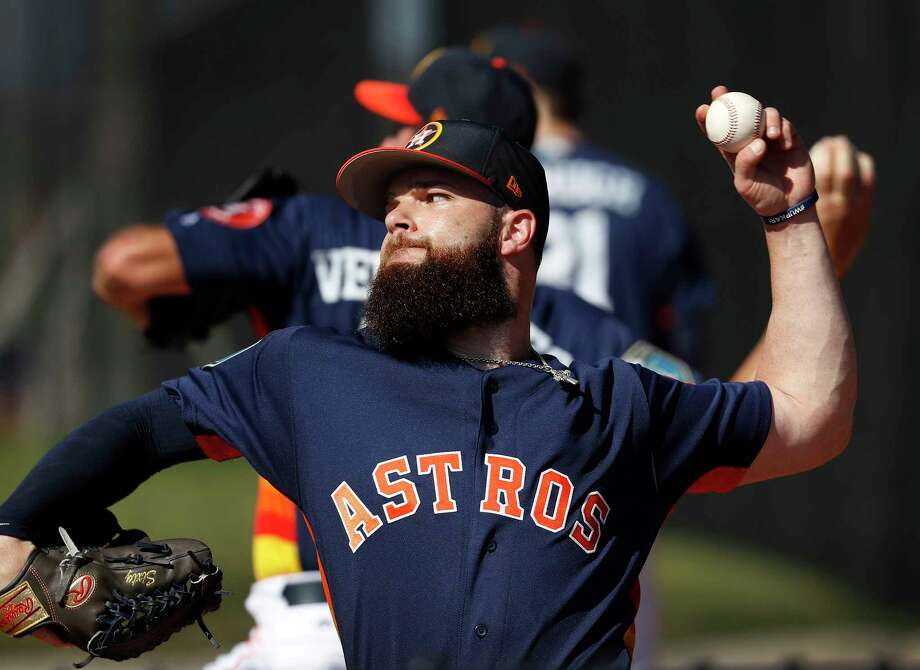Houston Astros LHP pitcher Dallas Keuchel (60) throws in the bullpen during spring training at The Ballpark of the Palm Beaches, Saturday, Feb. 17, 2018, in West Palm Beach . Photo: Karen Warren, Houston Chronicle / © 2018 Houston Chronicle