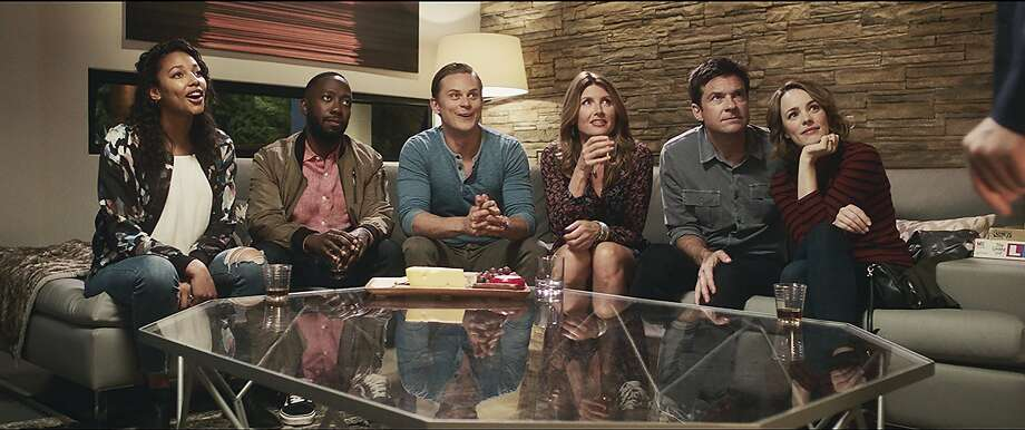 Sharon Horgan, Lamorne Morris, Billy Magnussen, Kylie Bunbury, Jason Bateman, Rachel McAdams in 'Game Night' Photo: Warner Bros.