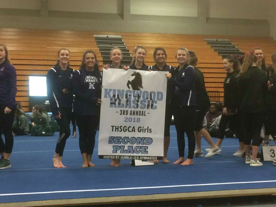 The Kingwood girls gymnastics team finished in second place in the team standings at the third annual Kingwood Klassic, which took place at Atascocita High School on Feb. 16-18 Photo: Elliott Lapin