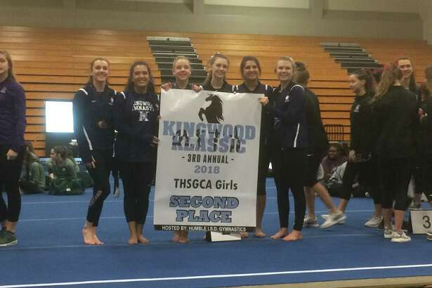 The Kingwood girls gymnastics team finished in second place in the team standings at the third annual Kingwood Klassic, which took place at Atascocita High School on Feb. 16-18