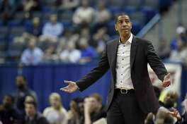 Kevin Ollie and the UConn men's basketball team will play at East Carolina on Sunday.