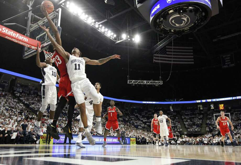 Penn State and Ohio State battle it out during a recent game. This year's Big 10 tournament will be held at Madison Square Garden for the first time this season. Photo: Chris Knight / Associated Press / FR170790 AP