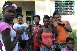 Girls at Fondation Paula Thybulle (Paula's Home for Girls) in Port-au-Prince, Haiti.