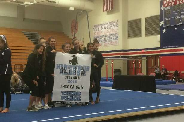 The Atascocita girls gymnastics team finished in third place in the team standings on Feb. 16 at the third annual Kingwood Klassic, which was hosted at Atascocita High School this year