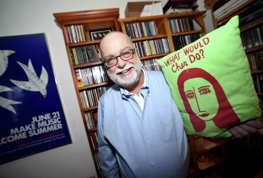 WPKN disc jockey Carl J. Frano is photographed in front of his music collection at his home in  Guilford on February 12, 2018 Photo: Arnold Gold / Hearst Connecticut Media / New Haven Register