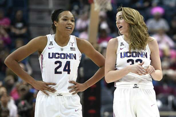 UConn's Napheesa Collier, left, and Katie Lou Samuelson.