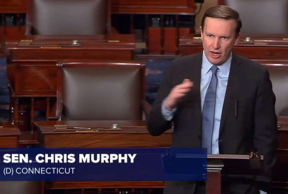 "School shootings a ""consequence of our inaction,"" Sen. Chris Murphy said from the Senate floor, remarkably, while the tragedy was still unfolding. Photo: YouTube / Contributed Photo / Connecticut Post Contributed"