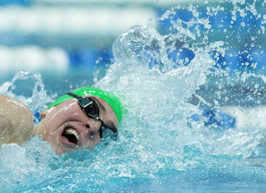 Lucie Nordmann of The Woodlands competes in the Class 6A girls 200-yard freestyle during the Class 6A UIL State Swimming & Diving Championships at the Lee and Joe Jamail Texas Swim Center on Saturday, Feb. 17, 2018, in Austin. Photo: Jason Fochtman, Houston Chronicle / © 2018 Houston Chronicle