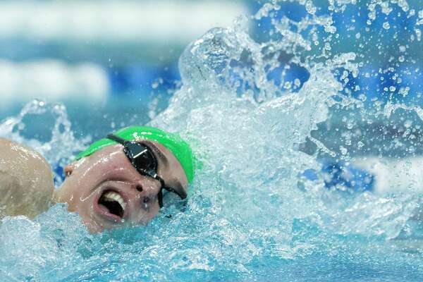 Lucie Nordmann of The Woodlands competes in the Class 6A girls 200-yard freestyle during the Class 6A UIL State Swimming & Diving Championships at the Lee and Joe Jamail Texas Swim Center on Saturday, Feb. 17, 2018, in Austin.
