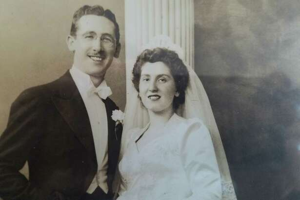 Abraham and Eleanor Staff on their wedding day in 1943. The Albany couple celebrated their 75th wedding anniversary on Valentine's Day. (Contributed photo)