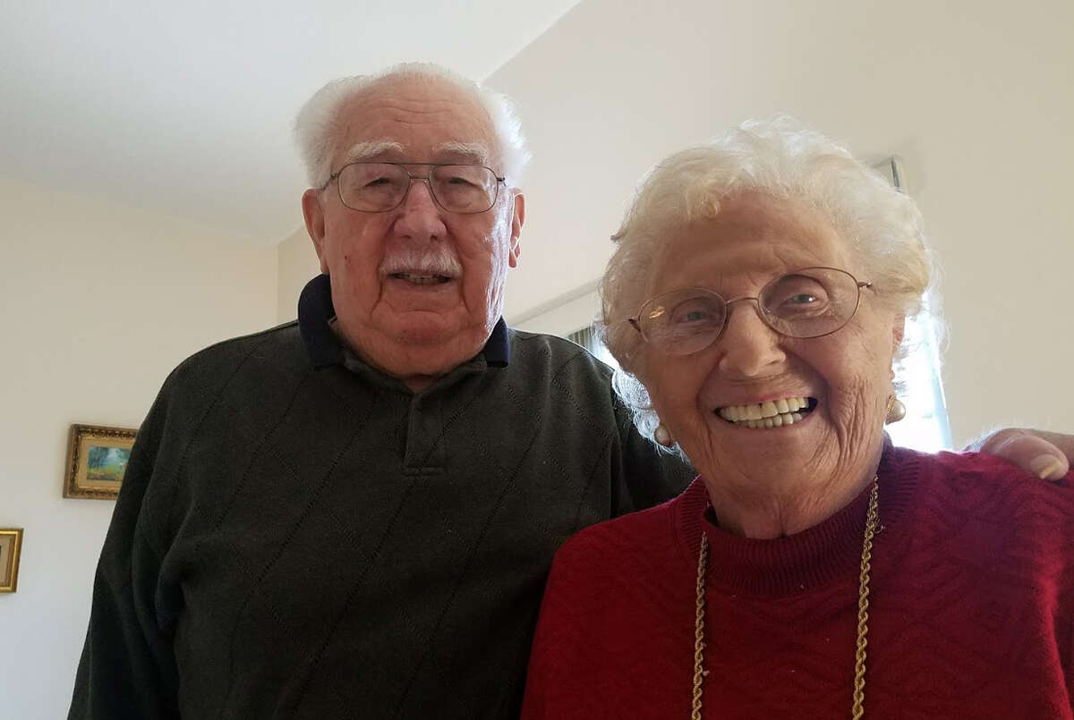 Abraham and Eleanor Staff celebrated their 75th wedding anniversary on Valentine's Day.