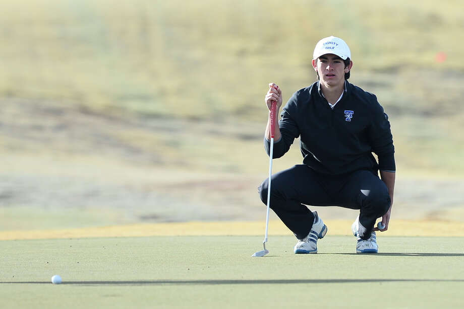 Trinity's Austin Escamilla studies the hole two green on the Roadrunner Course during the Boys Tall City Invitational Feb. 17, 2018, at Hogan Park Golf Course. James Durbin/Reporter-Telegram Photo: James Durbin
