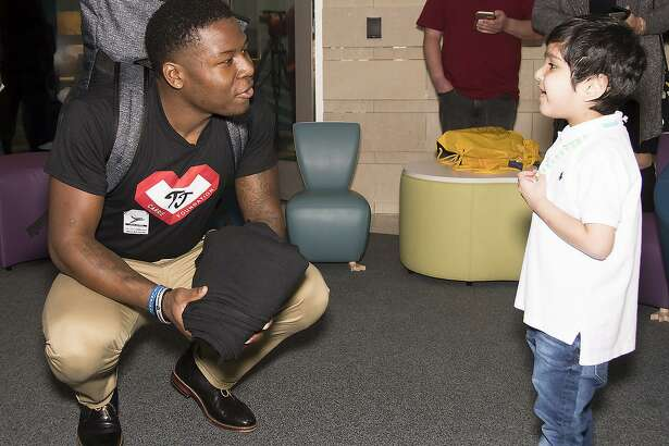 Raiders cornerback TJ Carrie, shown at Lucile Packard hospital, was 15 when he underwent open-heart surgery to repair a defect of his coronary artery.