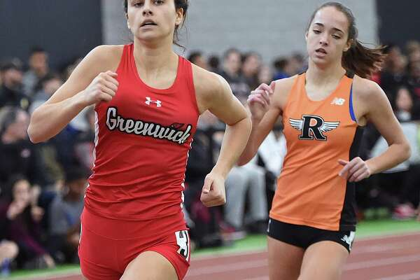 Greenwich's Genevieve DeWinter wins the 600 in 1:35.93 at the CIAC Girls Indoor Track & Field State Open, Saturday, Feb. 17, 2018, at Floyd Little Athletic Center at Hillhouse High School in New Haven.