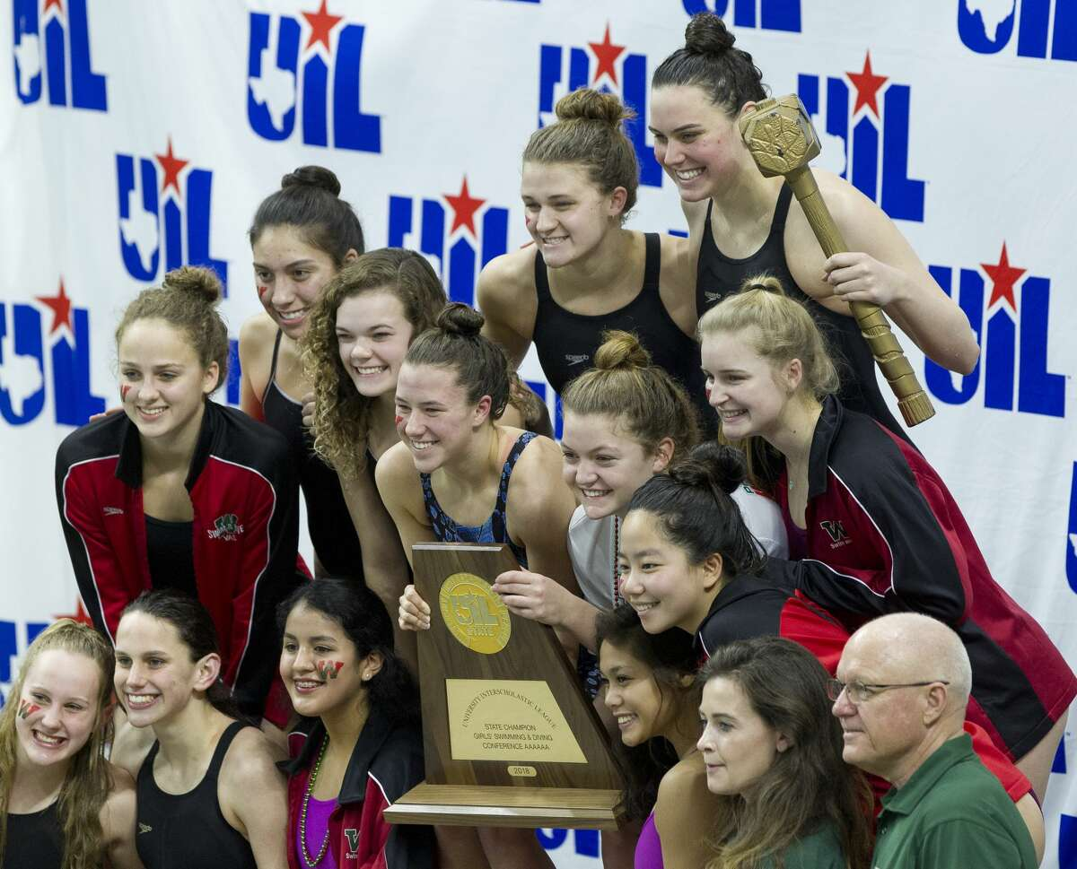 The Woodlands girls team defended their team state title during the Class 6A UIL State Swimming & Diving Championships at the Lee and Joe Jamail Texas Swim Center on Saturday, Feb. 17, 2018, in Austin.