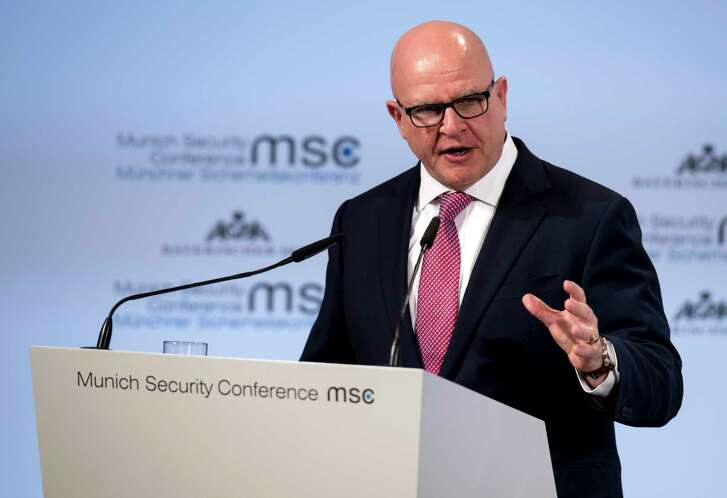 H.R. McMaster, President Trump's national security adviser, speaks Saturday at the Munich Security Conference.