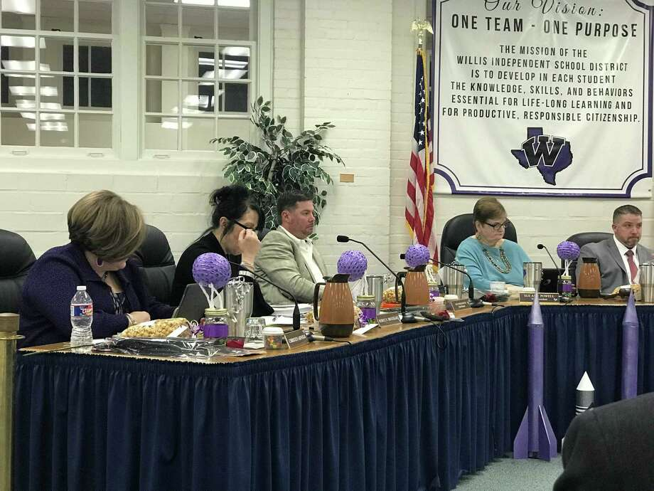 The school board heard a Willis ISD parent's bus safety concern during teh meeting Wednesday. Photo: Meagan Ellsworth