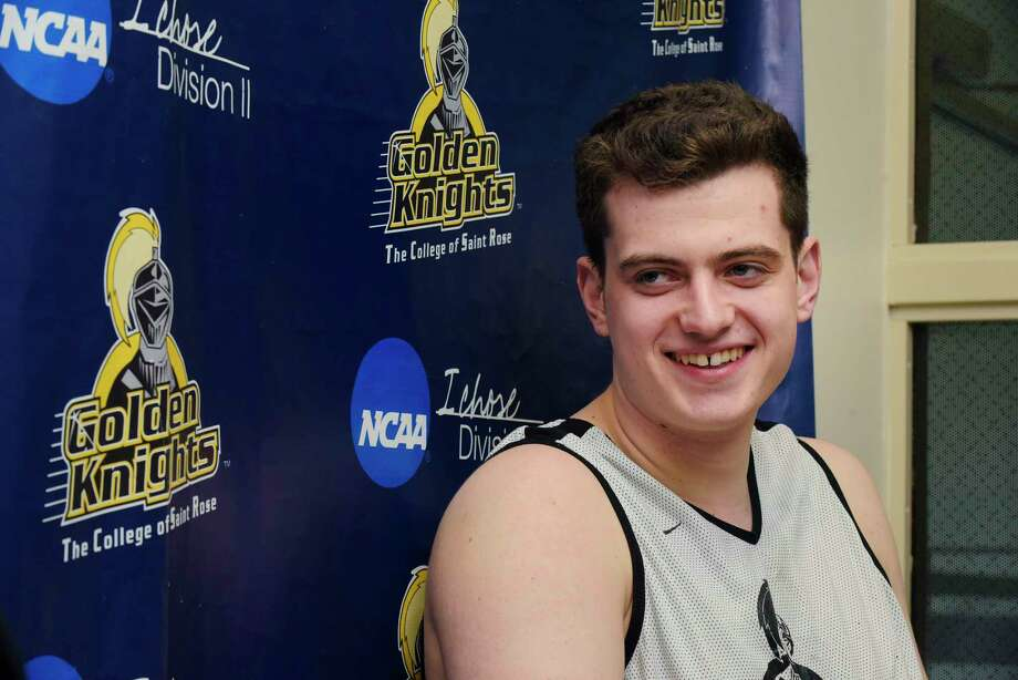 The College of Saint Rose basketball player, Jack Jones, talks about himself during an interview on Tuesday, Feb. 13, 2018, in Albany, N.Y.     (Paul Buckowski/Times Union) Photo: PAUL BUCKOWSKI / (Paul Buckowski/Times Union)