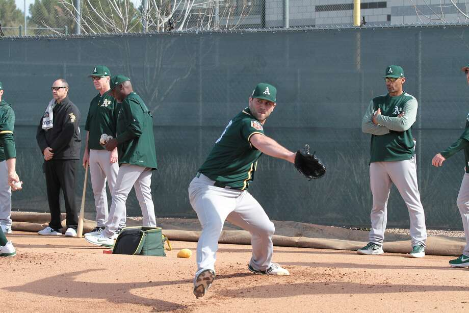 Former Stanford pitcher Jeremy Bleich is in A's camp as a non-roster invitee. Photo: Courtesy Juan Dorado/Oakland Athletics