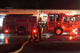 A Houston liquor store was destroyed in an overnight fire.